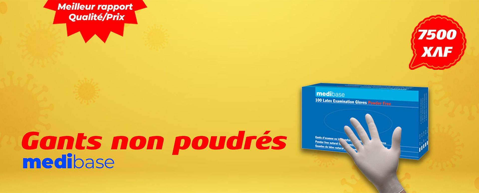 gants non poudrés medibase yaoundé cameroun
